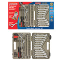 Crescent CTK70MP 70-Piece Ratchet & Combination Wrench Professional Tool Set with Hard Case and Wrap