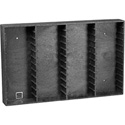 Wall Mount Rack for 48 Audio Cassettes Black/Gray Swirl
