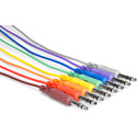 1/4in TRS Male to 1/4in TRS Male Patch Cable 1.5 Foot 8 Cable Patch Cord Pack