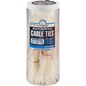 Cable Tie Mega Jar 500 Piece Natural Nylon Indoor