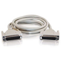 DB25 Serial Cable M-M 6 Foot - Beige