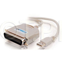 USB IEEE-1284 Parallel Printer Adaptor Cable 6 Ft.
