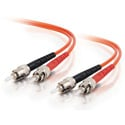 30m ST/ST Duplex 62.5/125 Multimode Fiber Patch Cable - Orange