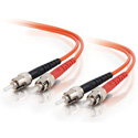 8m ST/ST Duplex 62.5/125 Multimode Fiber Patch Cable - Orange