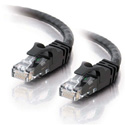 10ft Cat6 550 MHz Snagless Patch Cable - Black