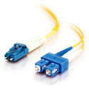 1m LC/SC Duplex 9/125 Single Mode Fiber Patch Cable - Yellow