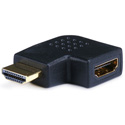 HDMI Right Angle Port Saver Adapter (Male to Female) 90 Deg Vertical Flat Left