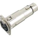 Connectronics XLR Female to XLR Female Chassis Mount Barrel Connector