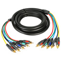 6ft Component Video Cable With Dual RCA Audio and Gold Connectors