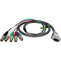 TecNec 15-Pin Male VGA - 5BNC Female 6in Molded Breakout Cable