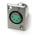 Switchcraft D4F XLR Female 4-Pin Chassis Mount Connector