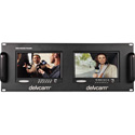 Delvcam Dual 7in Fixed Rackmount Color Monitor