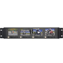 Delvcam DELV-MLCD35RM Quad 3.5 Inch Rackmount DELV-MLCD Series Monitor