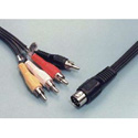 5 pin DIN to 4 RCA Plug Cable 6ft