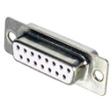 15-Pin D-Sub Connector Insert with Rear Solder Points - Female