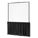 Da-Lite 94135 84 Inch Black Tripod Skirt