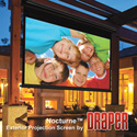 Draper 138017 Nocturne 16:9 HDTV Electric Projection Screen - 133 Inch - M White