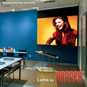 Draper 207112 70x70 Inch Luma with AutoReturn Matt White XT1000E Screen