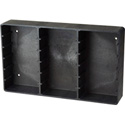 Charcoal Grey Plastic DVD Rack for 20 Disks