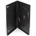Black Plastic Single DVD Album Case With Full Outer Sleeve