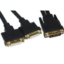TecNec DVI-D Male to 2 DVI-D Female Adapter Cable 1ft