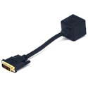 DVI-I Male to 2 VGA Female Adapter 8 Inch Cable