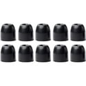 Shure EABKF1-10S Small Black Foam Sleeves (Ten Included/Five Pair)