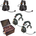 Eartec TCS-4000 Four Person Wired Intercom with Ultra Single Headsets