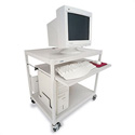 Bretford EC4000-GM 32W x 24D x 33H Mobile Computer Workstation