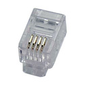 4P4C RJ-10 Modular Plug for Flat Stranded Wire 50 pack