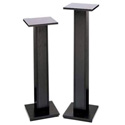 Raxxess ESS-42BSL Speaker Stand w/14in Shelf - Ebony