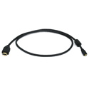3FT 34AWG High Speed w/ Ethernet Micro-HDMI to HDMI Ferrite Core