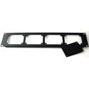 ETS 22518 2U 19 Inch Rack Mount Panel with 3 Blank Plates