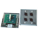 ETS PA202MWP InstaSnake Wall Plate- Receive 4 MXLR to 110 Punch Down