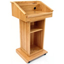 Executive Wood Oak Counselor Lectern - Medium Oak Finish