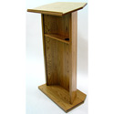 Executive Wood Diplomat Oak Lectern - Medium Oak Finish