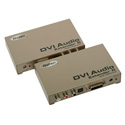 Gefen EXT-DVI-AUDIO-CAT5 DVI Audio Extender-Transmit Up To 150 FT