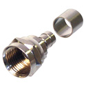 F Male Crimp-On for RG-59/U with separate 1/4in ring