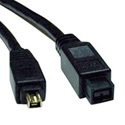 Tripp Lite F019-006 6ft IEEE 1394b FireWire 800 Gold High-Speed Cable(9pin/4pin)