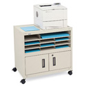 Bretford FC27 Printer Cabinet With Adj Int Shelf; 36 x 18 x 27