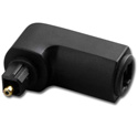 Toslink Plug to Toslink Jack Right Angle Adaptor