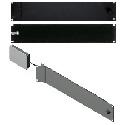RDL FP-RRAH Rack Adapter Flat-Pak Series - 19in Hinged