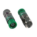 ICM FSNS6U RG6/6 Quad F Compression Connector Nickel Green - 25pk