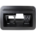 FSR T3U-2R-BLK Table Box AC Duplex Black Cover and Trim Ring
