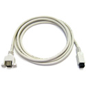 9-Pin Male to 9-Pin Female FireWire 800 Extension Cable 3 Feet