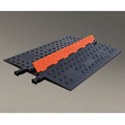 Guard Dog Low Profile-1 Channel with ADA Compliant Ramps Orange Lid/Black Base