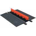 Guard Dog Low Profile-2 Channel with ADA Ramps - 3 Foot - Orange Lid/Black Base
