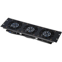 Gator GE-FANPNL3-110V 3U Vented Fan Panel and 3 Fans