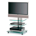 Bentley Mounts FAVS18 Glass Plasma Stand/Cart for 37-50 Inch Plasmas