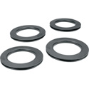 4 Inch Black Ganging Grommet Ring - 4 Pieces